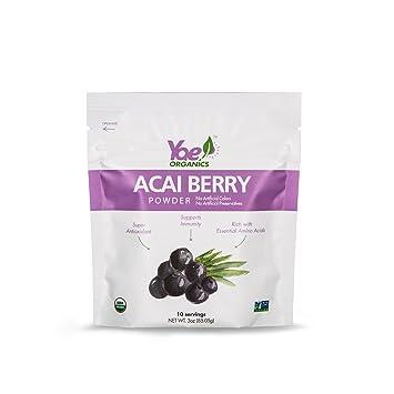Organics 100% Pure Acai Berry Juice Powder, 3oz/10 Servings,