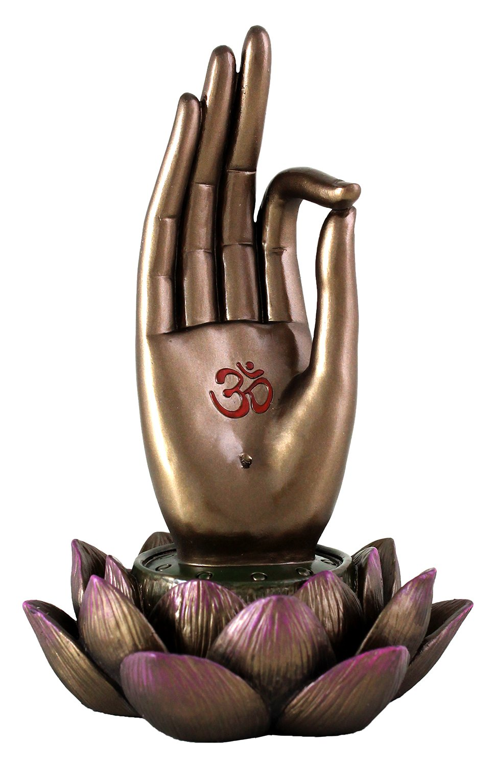 Top Collection Buddha Hand and Lotus Flower Vitarka Mudra Incense Holder Incense Burner