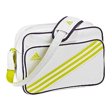 a9435a9a7c8b Adidas Enamel Messenger Bag - White.  Amazon.co.uk  Luggage