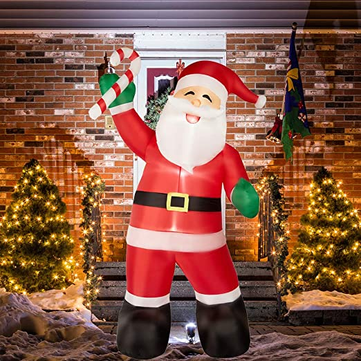 Amazon.com: SUPERJARE - Papá Noel inflable de 8 pies con ...