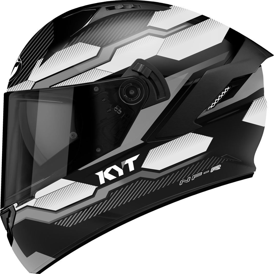 Amazon.es: KYT casco Moto Integral nf-r, Hexagon Matt plata, talla S ...