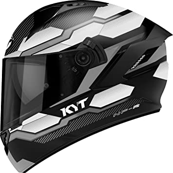 KYT casco Moto Integral nf-r, Hexagon Matt plata, talla S 55 –