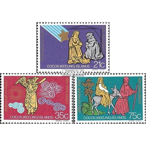 Kokos-îles 104-106 (complète.Edition.) 1982 Noël (Timbres pour les collectionneurs)