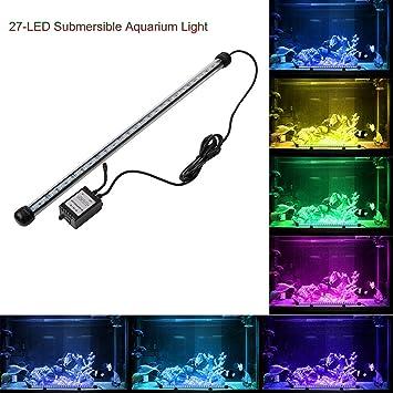 12 LED Acuario de luz Kit de abedoe iluminación luz de día Simulator resistente al agua