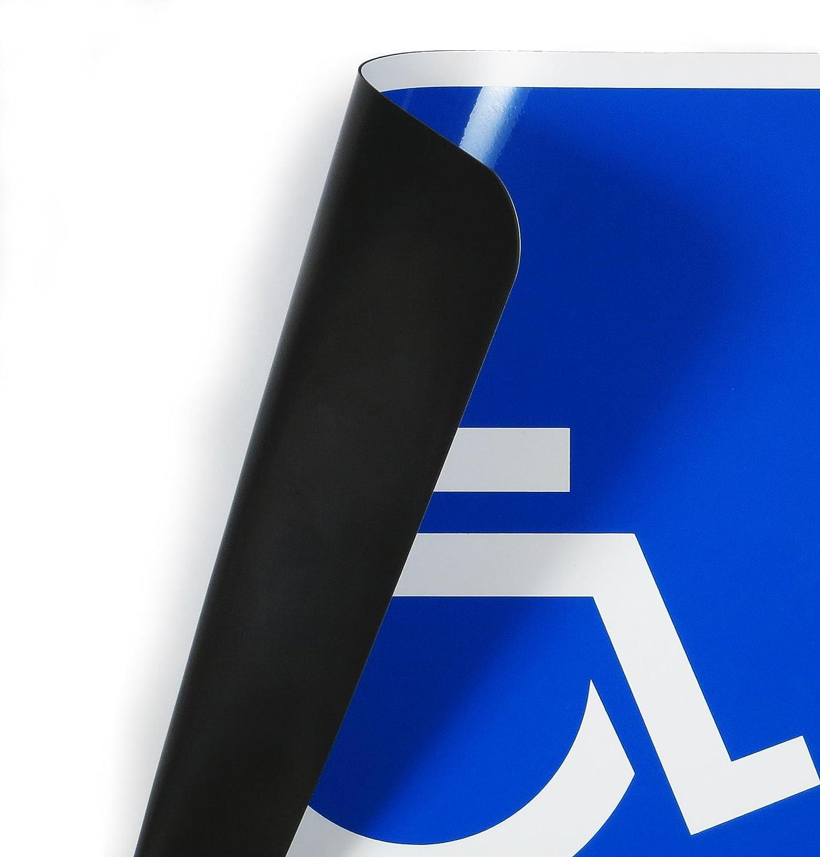 persone con sedia a rotelle disponibile in 3 misure Lohofol targhetta magnetica per il trasporto di persone con disabilit/à