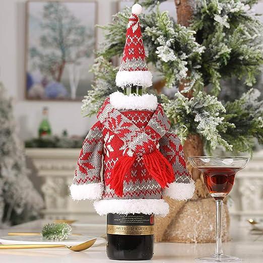 Kappha Decoración de Botellas de Navidad Tela Dulce Tema Festivo ...