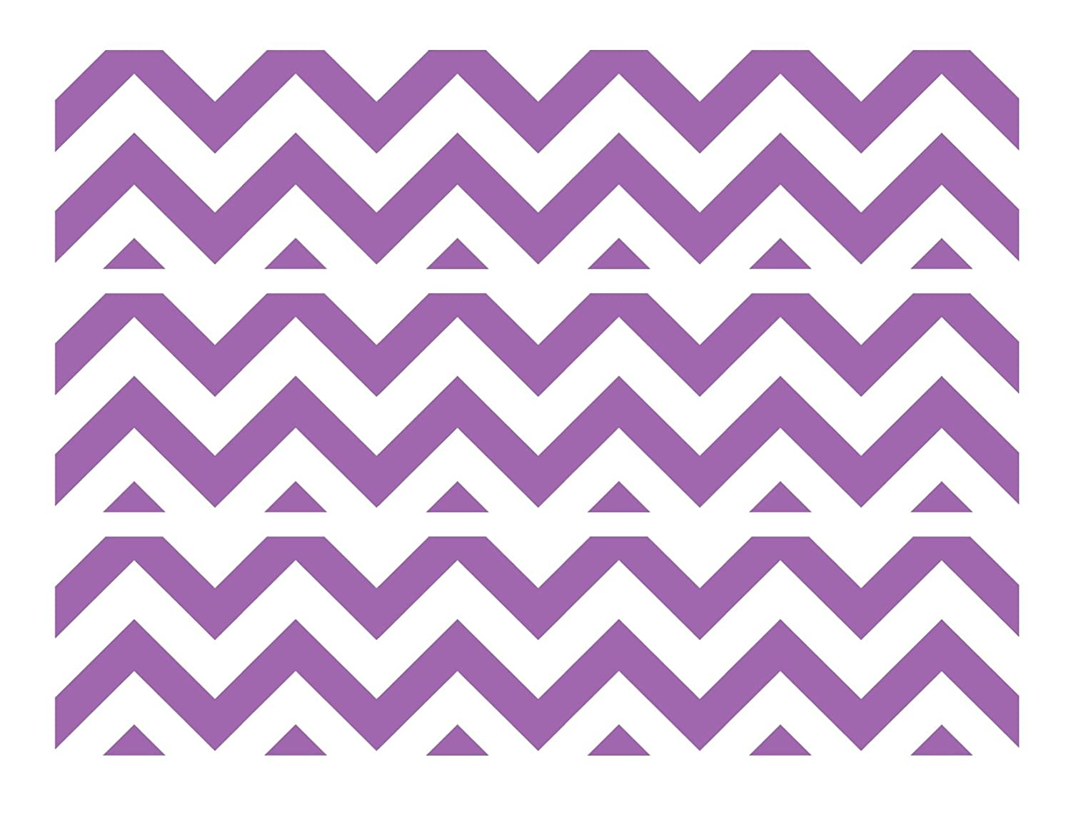 Chevron Print {lavender And White} Edible Cupcake Toppers Decoration Kitchen, Dining & Bar