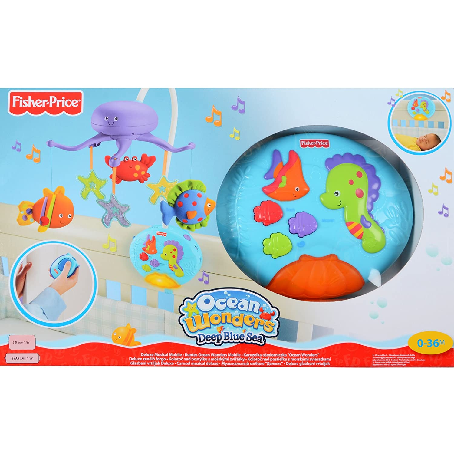 Fisher price crib soother fish fisher price ocean wonders for Fisher price fish bowl