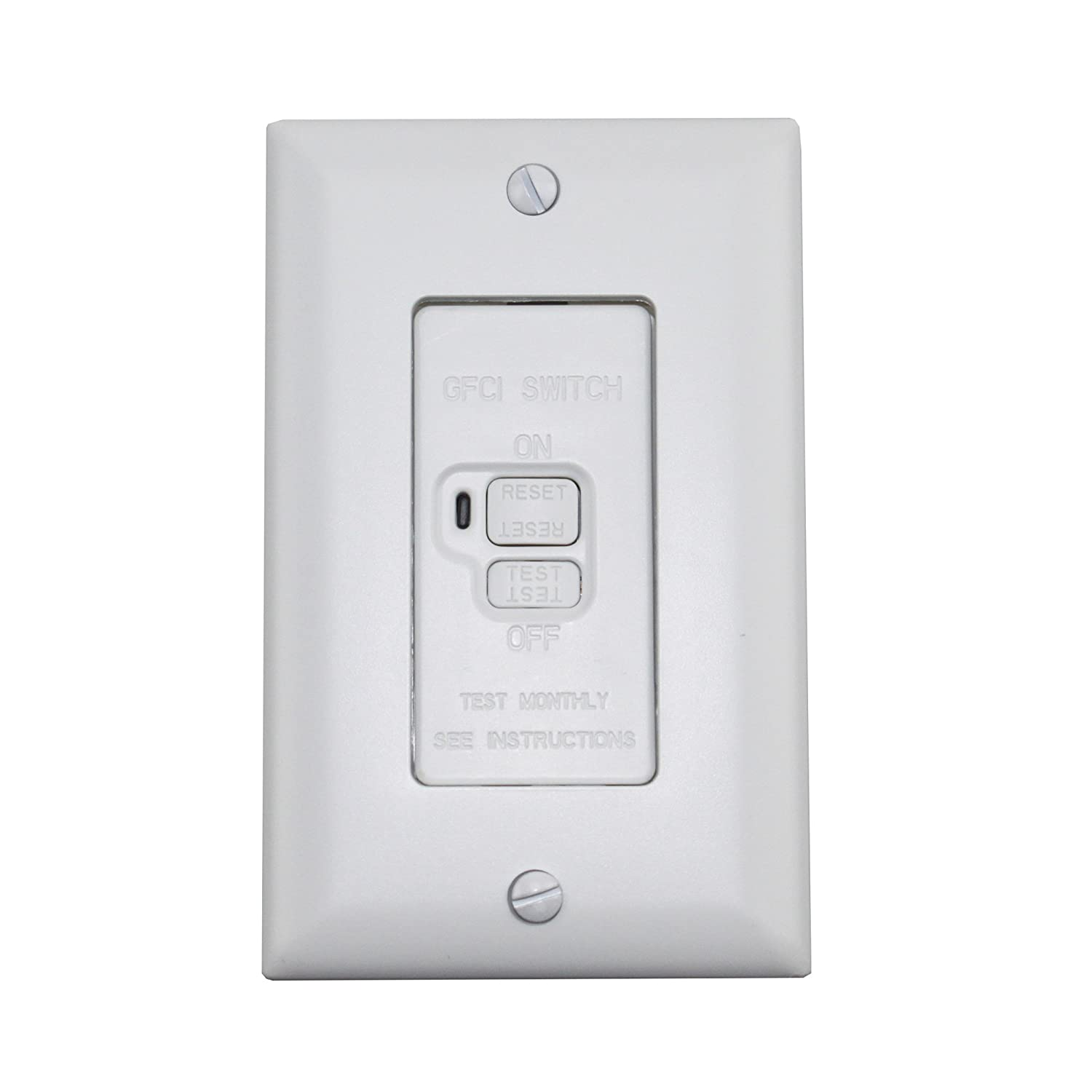 Pass Seymour 2085 W Gfci Dead Front Blank 20 Amp 125 Volt Feed Wiring Leviton Instructions White Electrical Switches