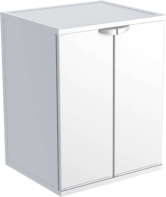 Adventa - Funda para lavadora de resina de PVC (uso interior/exterior), color blanco, 68 x 66 x 88 cm