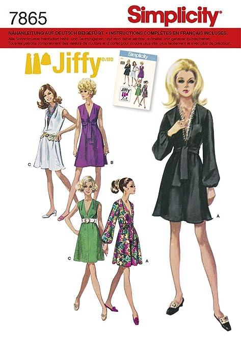 Burda Simplicity s7865.h5 Dress Vintage Sewing Pattern Paper 21 x 15 ...