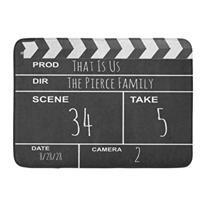 Amazon Zixi Custom Doormats Theater Movie Clapboard Home Door