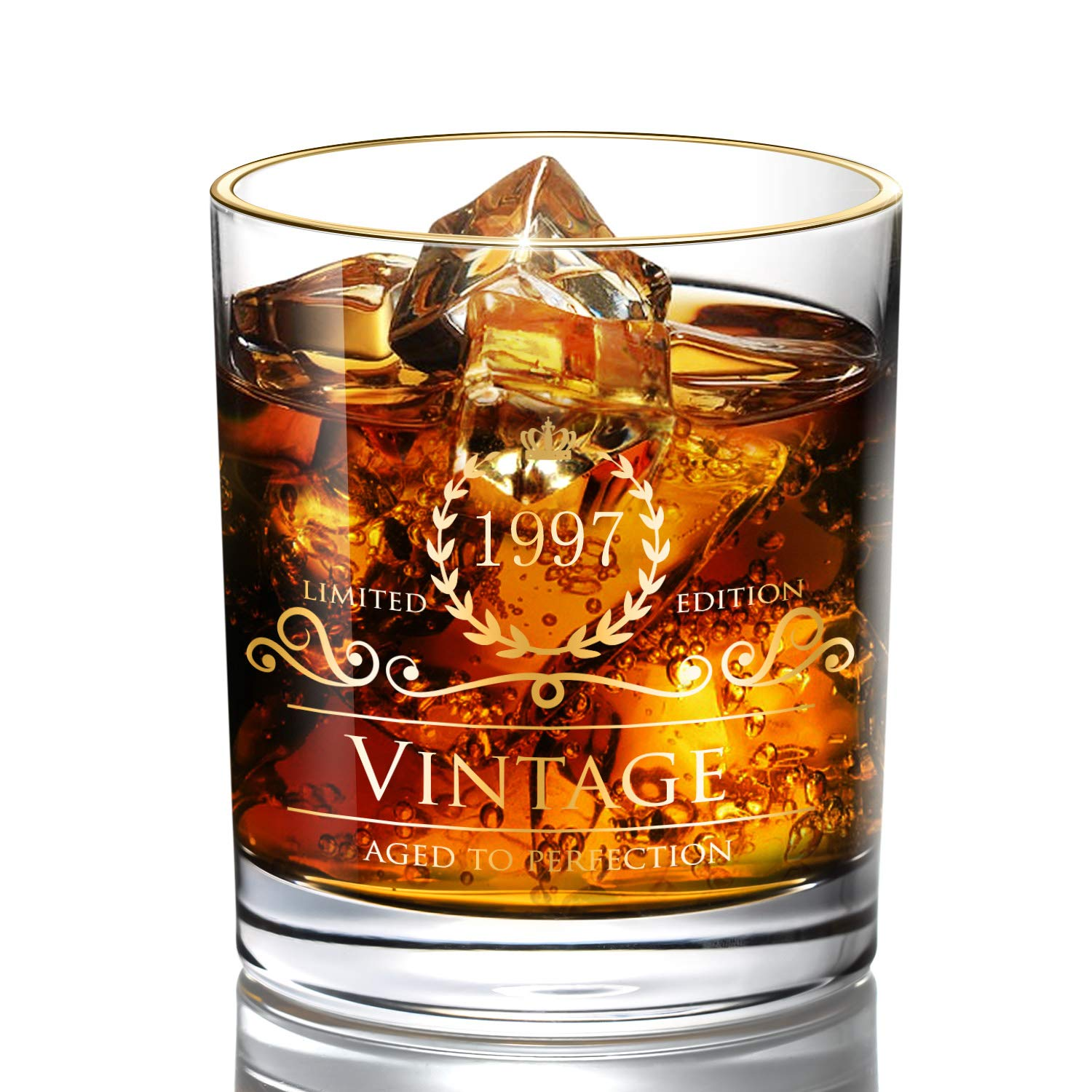 1948 70th Birthday Anniversary Gifts For Women Men Dad Mom Vintage Unfading 24K Gold Gilded Old Fashioned Whiskey Glasses Perfect Gift And Home Use