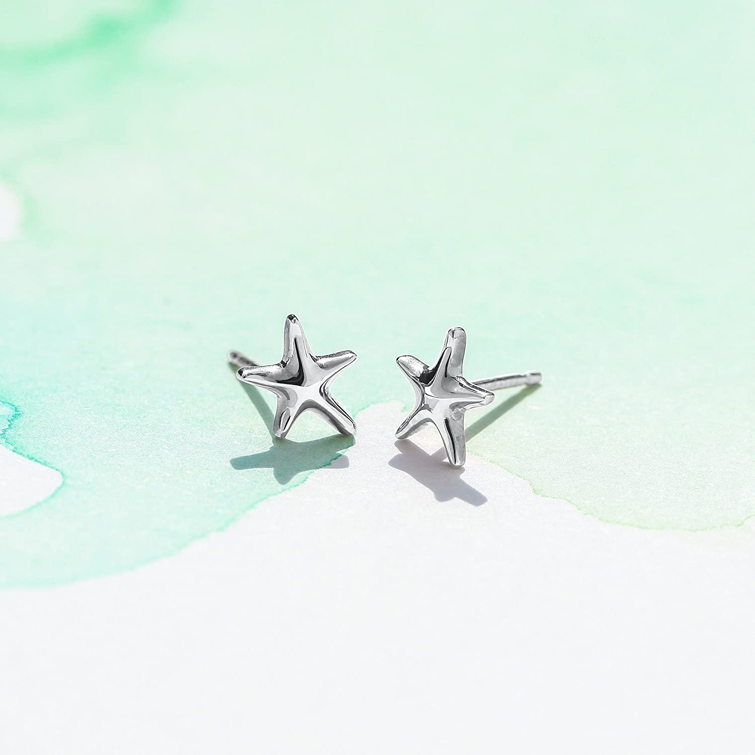 Boma Jewelry Sterling Silver Starfish Post Earrings