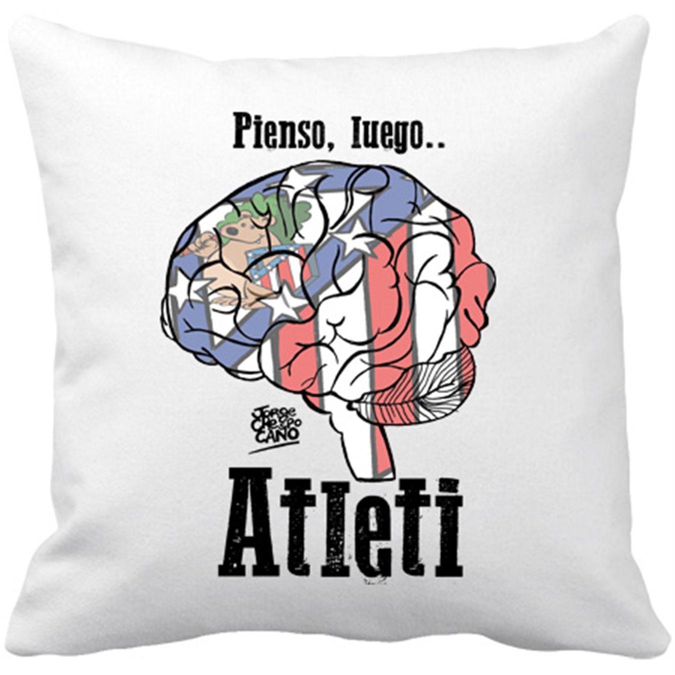 Cojín con relleno Atlético de Madrid pienso luego Atleti ...