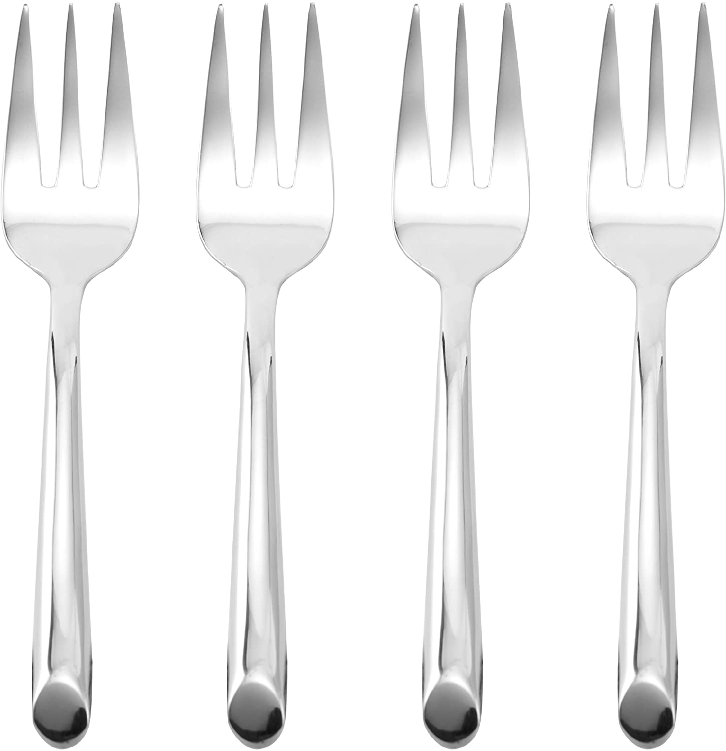Towle Living Wave Stainless Steel Cocktail Fork, Set of 4