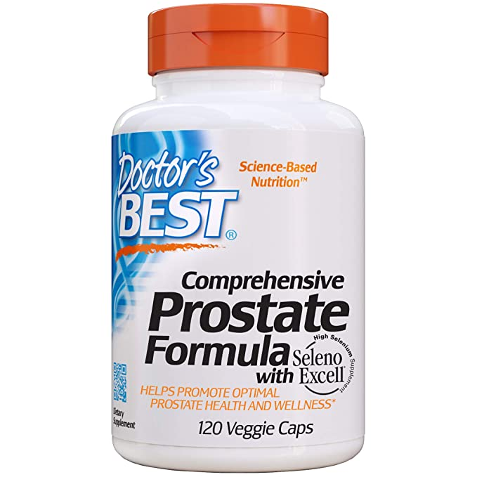 Doctors Best Comprehensive Prostate Formula With Seleno Excell - 120 Vcaps 120 Unidades 135 g