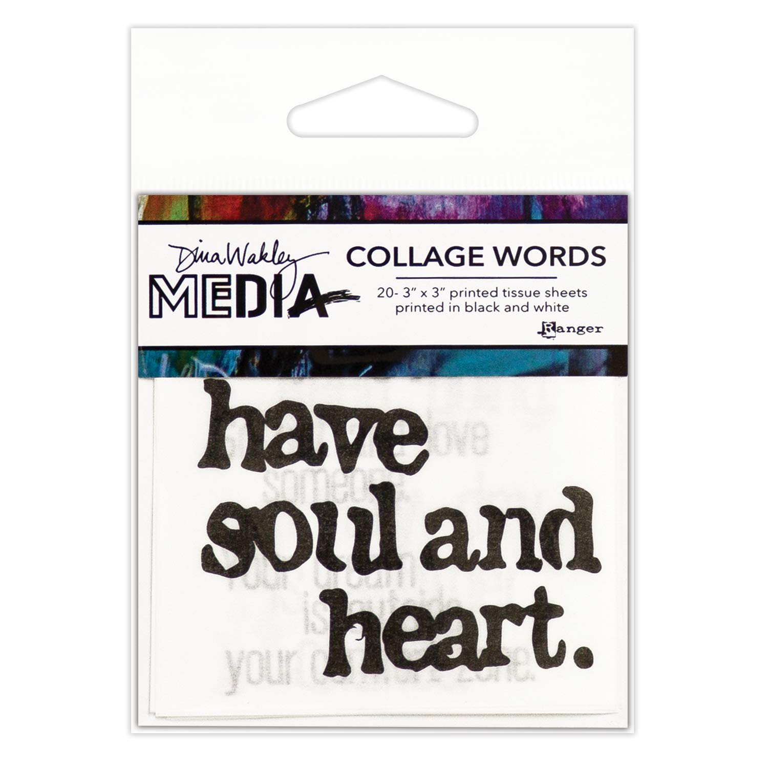 Dina Wakley Media Collage Words 2