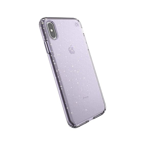 sports shoes a9bae 2775d Speck Products Compatible Phone Case for Apple iPhone Xs Max, Presidio  Clear + Glitter Case, Geode Purple with Gold Glitter/Geode Purple