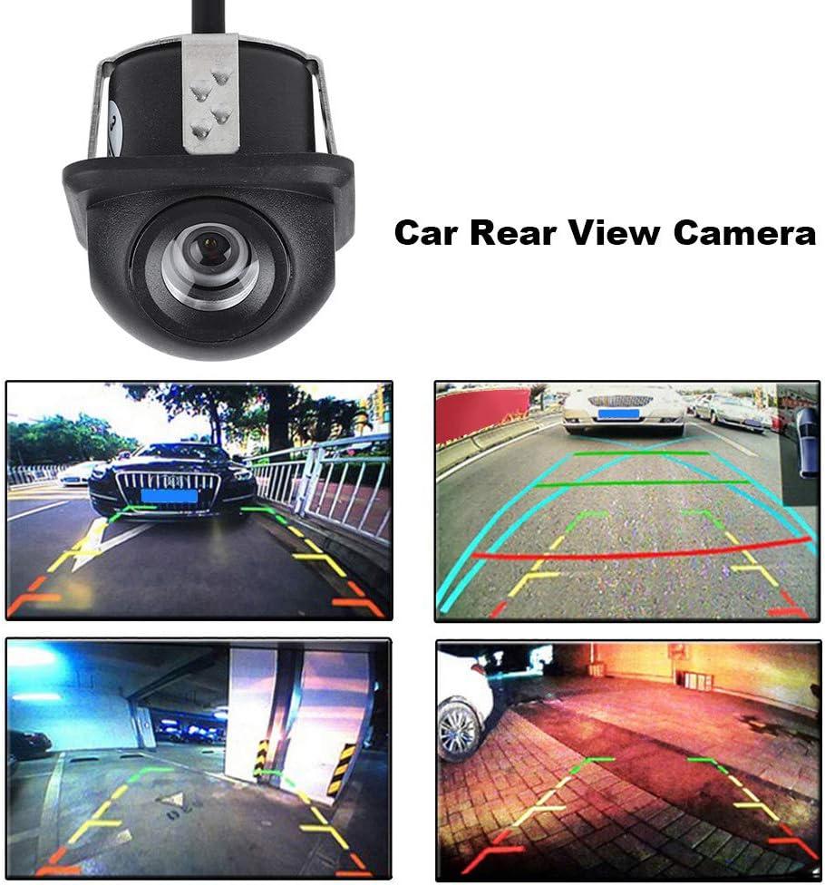 Kafuty Telecamera per retrovisione dellautomobile 12V 170 /° Ampio Angolo di visuale Auto retromarcia Backup Specchietto retrovisore Telecamera per Visione Notturna Parcheggio per Auto Impermeabile