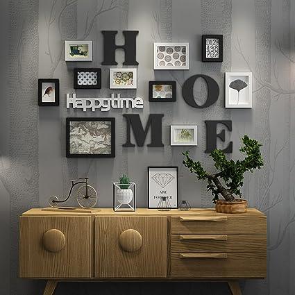 Everyday Home 10 Multi Cadre Photo Ensemble Noir Blanc Bleu