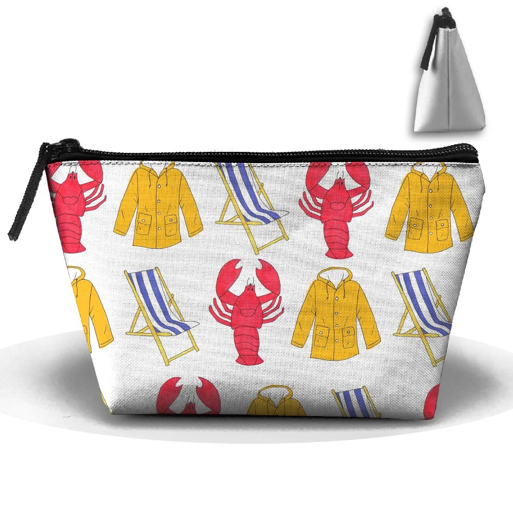 Portable Travel Storage Bags Lobster Beach Chair Coat All Printed Clutch Wallets Big Pouch Purse Zipper Holder For Kits Medicine And Makeup Bag