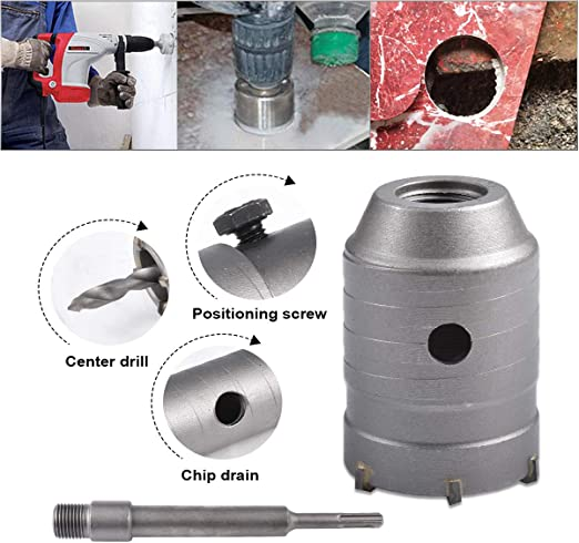 55mm Cutting Dia SDS Plus Shank Concrete Cement Stone Wall Hole Saw Drill Bit
