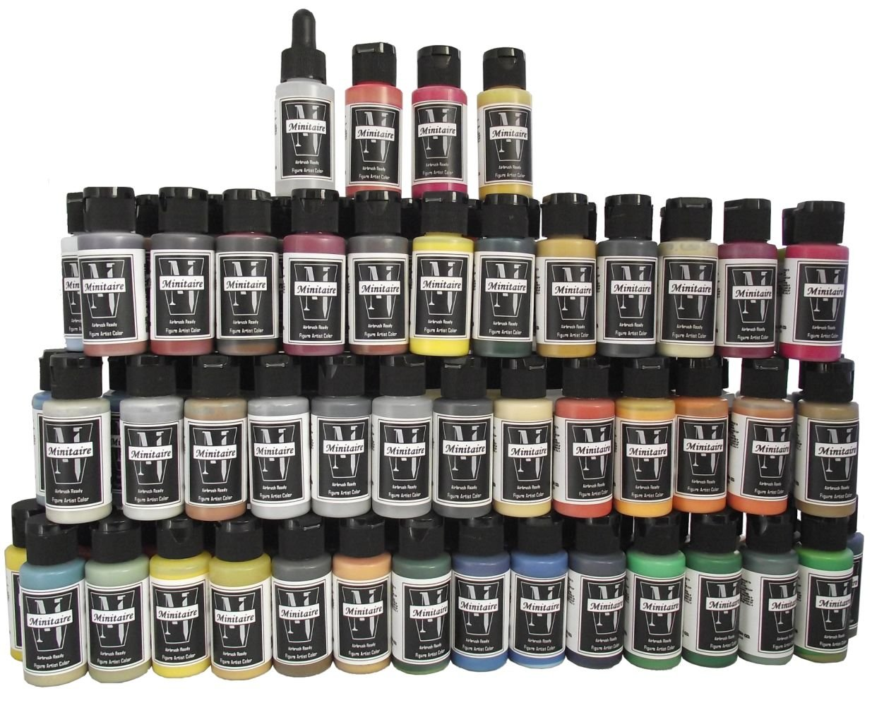 Badger Air-Brush Company Minitaire Color Paint Set with Color Coat/Paint Retarder Badger Air-Brush Co. MAFS-84C