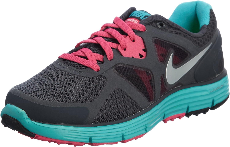 azúcar Catástrofe procedimiento  Amazon.com | Nike Lunarglide 3 Big Kids GS Running Grey Turquoise Pink (GS)  | Running