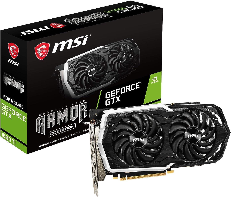 MSI GeForce GTX 1660 Ti Armor 6GB GDDR6 Graphics Card