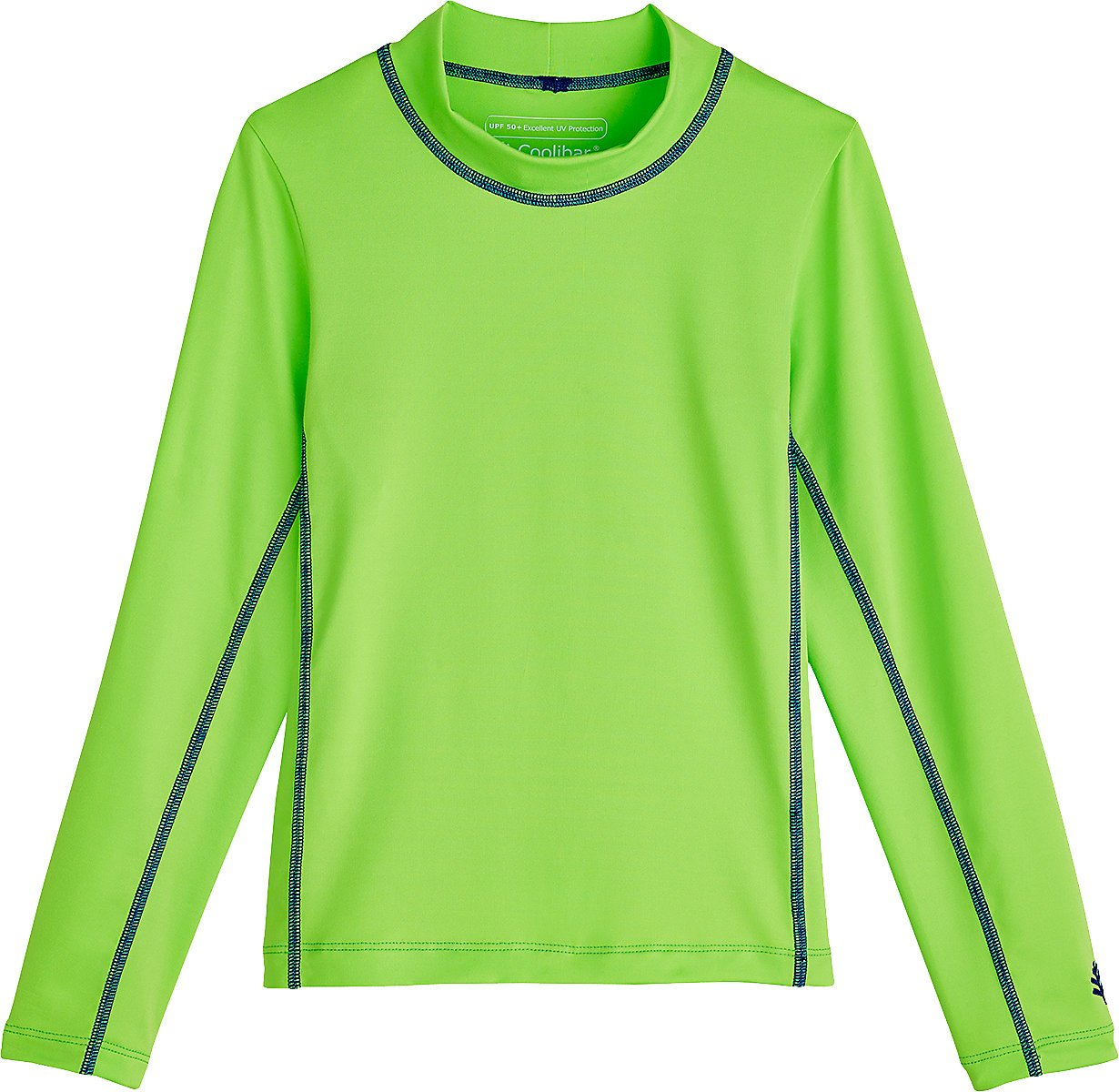 Coolibar UPF 50+ Kids' Long Sleeve Surf Shirt - Sun Protective (Large- Lime Green) by Coolibar