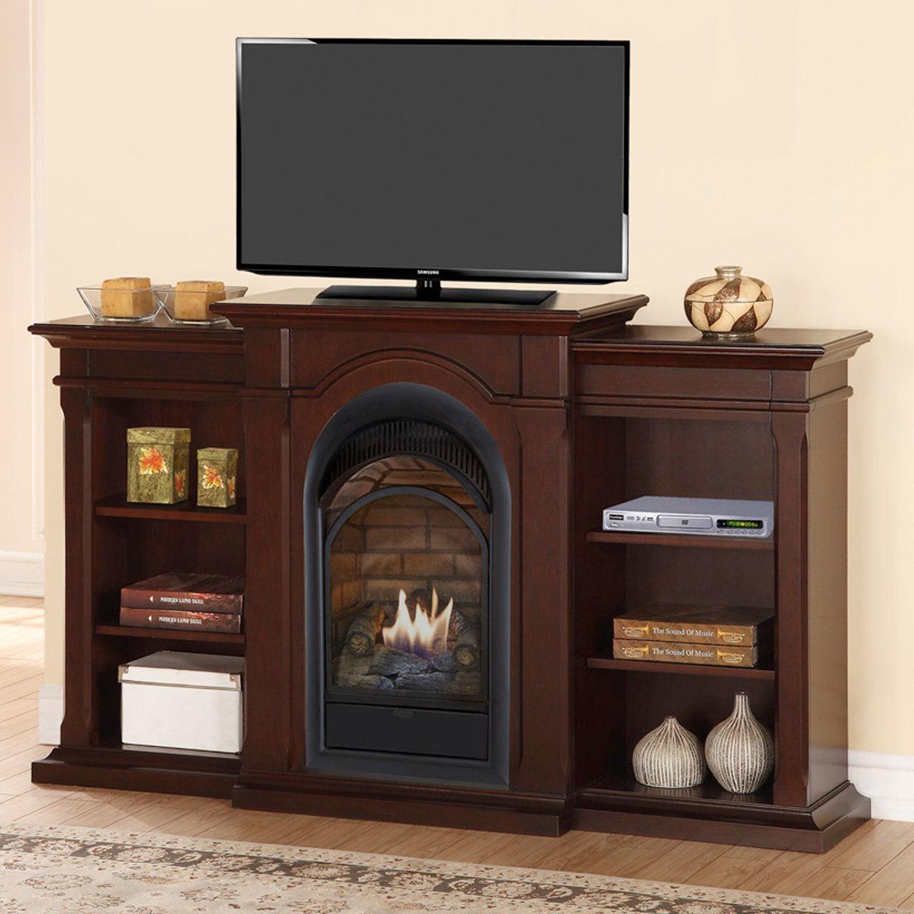 Amazon.com: Duluth Forge Dual Fuel Vent Free Fireplace With ...
