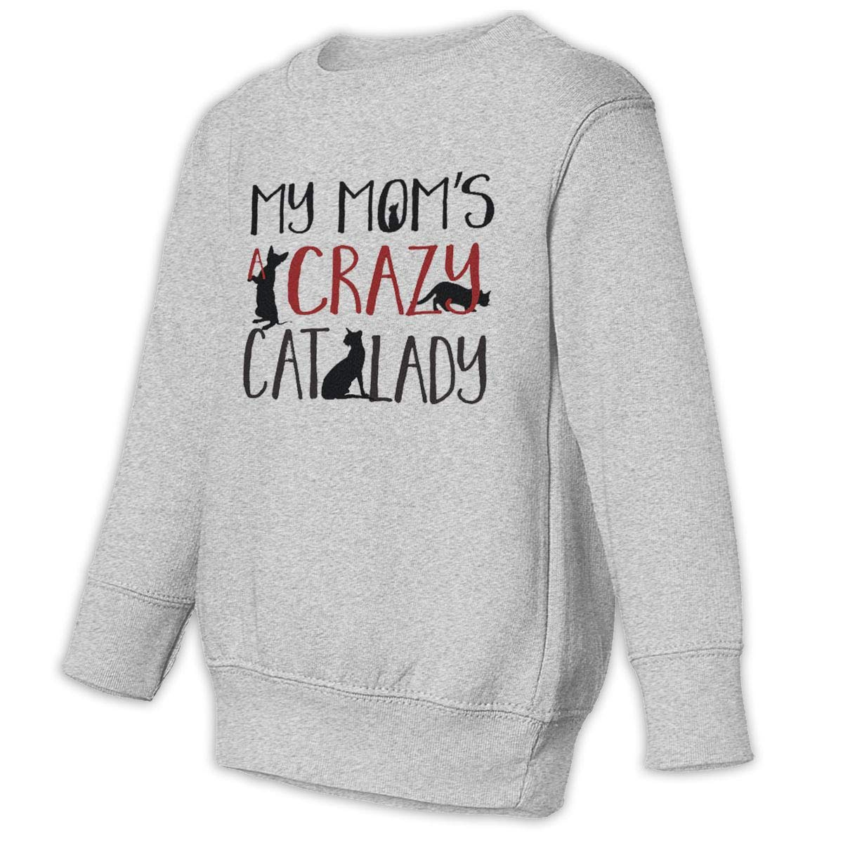 My Moms Crazy Cat Lady Baby Sweatshirt Adorable Juvenile Hoodies Soft Pullovers