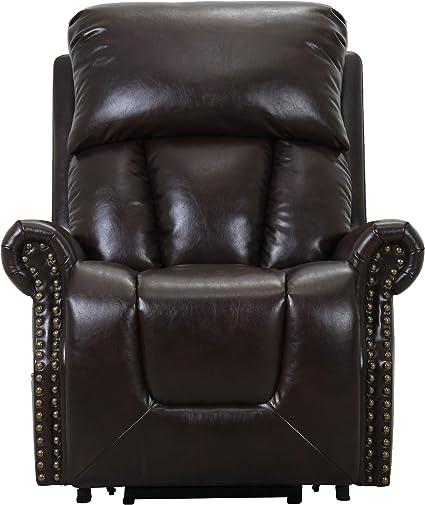 Amazon Brand Ravenna Home Albert Power Lift Assist Recliner Chair 34 3 W Dark Brown Furniture Decor