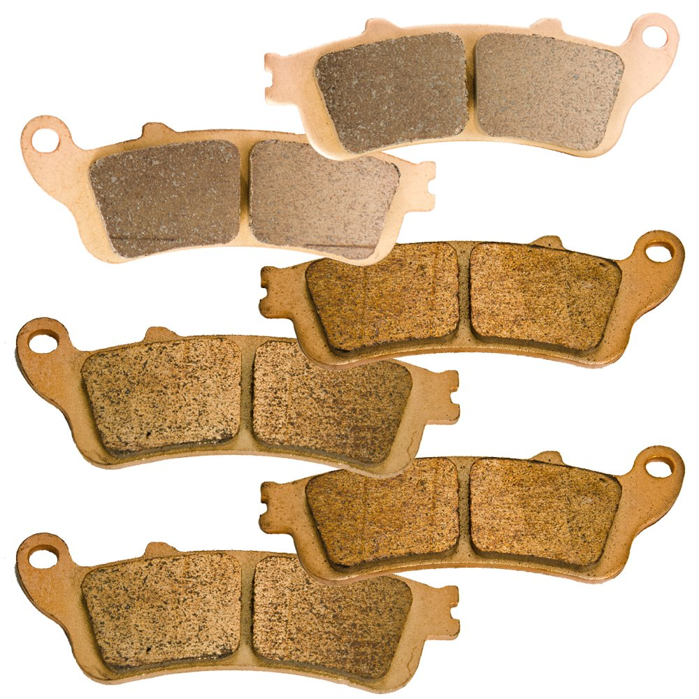 Front and Rear Sintered Brake Pads for Honda GL1800 GL 1800 A Goldwing 2001-2016 by Foreverun Motor