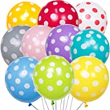 PartyWoo ドット柄風船 50個 10色混色 カラフル風船 ドット柄 バルーン ドット風船 カラフル バルーン カラー風船 バースデー 飾り カラフル 誕生日バルーン カラフル