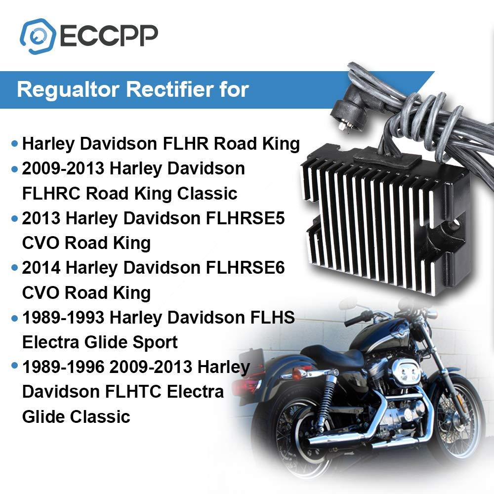 OCPTY Voltage Regulator Rectifier Fits 2009-2014 Harley Davidson FLHR Road King 2009-2013 Harley Davidson FLHRC Road King Classic