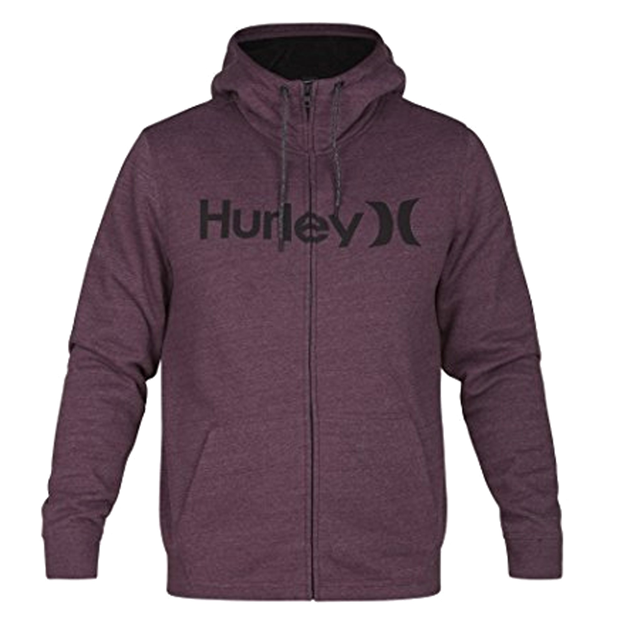 Hurley MFT0007590 Men's Bayside Sherpa Hoodie, Mahogany - M