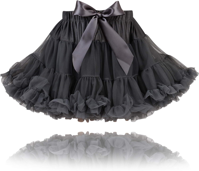 Fairy Princess - Falda de chifón para niña (pizarra), color gris ...