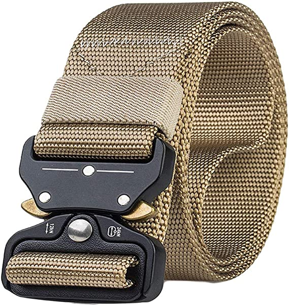 Yomiafy Mens Tactical Military Canvas Belt Military Outdoor Training Belt Heavy Duty Webbing Belt