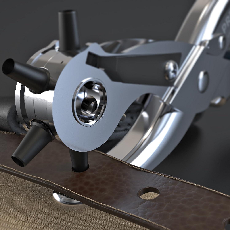 Cart/ón Tela Alicates Sacabocado Agujero Perfora Cuero Perforadora Profesional con 6 Puntas Presch Alicates de Agujero Cinturones