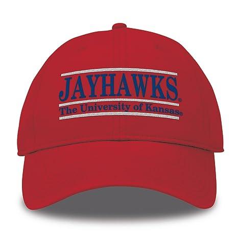 san francisco 31fc1 ce34a The Game NCAA Kansas Jayhawks Bar Design Twill Hat, Red, Adjustable