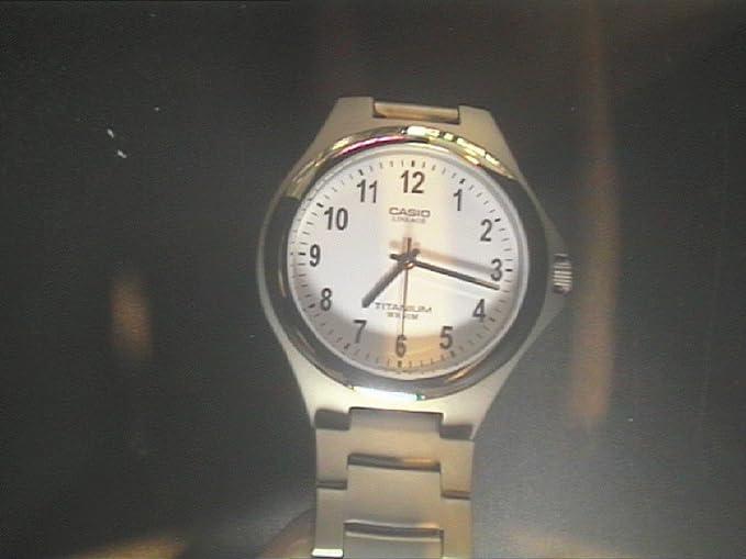 Metros Casio Plateada 163 Correa Caballero De A Lin Sumergible Reloj 200 Cuarzo 7bvef Titanio Analógico Con dthCsQr