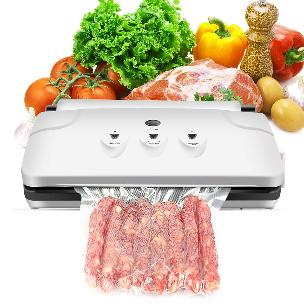 Vacuum Sealer Machine,CamKing VS-2150A Compact Automatic Vacuum Sealing System with Bags -White (VCM-01)
