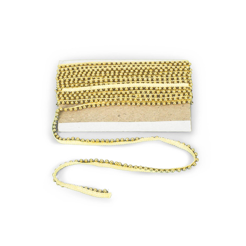 2 Meter Goldene Spitze Mit Perlen Vintage Stil Trimm Fur Hochzeit
