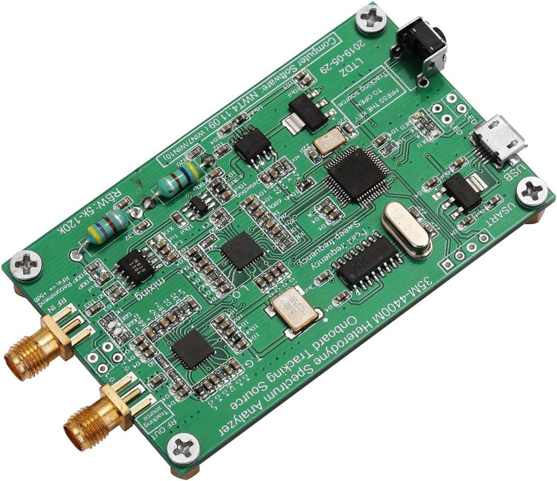 KKmoon Spektrumanalysator USB LTDZ 35-4400M Spektrumsignalquelle mit Tracking-Quellenmodul RF-Frequenzbereichsanalyse-Tool