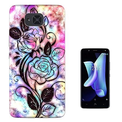 Amazon.com: 003388 - Rose silhouette colourful background ...