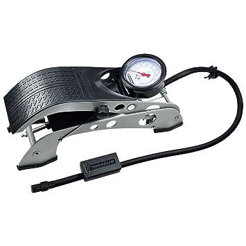 Michelin 92414 - Bomba de aire de pedal (1 cilindro, con manómetro), color gris y negro: Amazon.es: Coche y moto