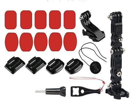 Kit De Adhesivo de Montaje Frontal Cámara Casco para Gopro Hero 3 2 1 Negro N3