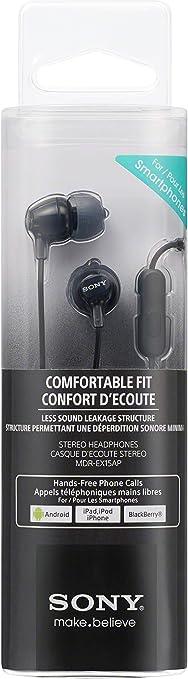 Sony Mdr Ex15ap In Ear Kopfhörer Schwarz Elektronik